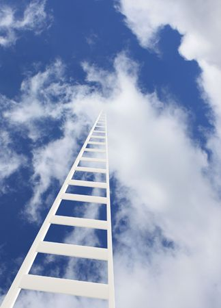 Conceptual image - ladder in the sky photo