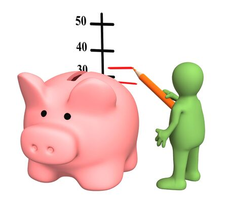 incomes: Conceptual image - increase of a level of incomes Stock Photo