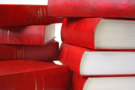 Many red books combined by a pile Stock Photo - 3508497