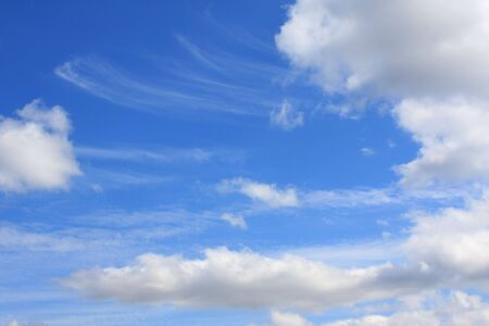 Background - white clouds in the blue sky Stock Photo - 3508476