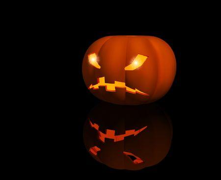Symbol of a Halloween - bright 3d pumpkin photo
