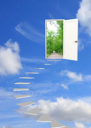 Conceptual image - road to dream photo