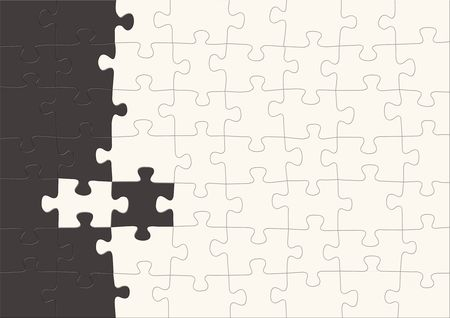 3d puzzles of black and white color Stock Photo - 3537822