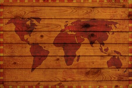 Grunge background - ancient map of the world Stock Photo - 3569527
