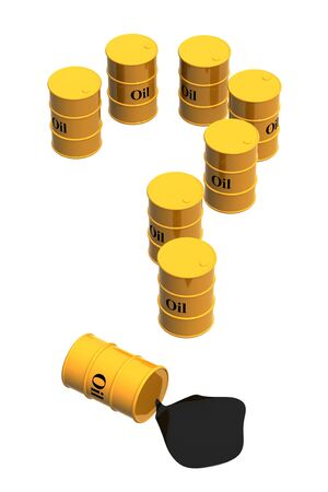 Oil question. Eight tanks of yellow color Stock Photo - 3607937