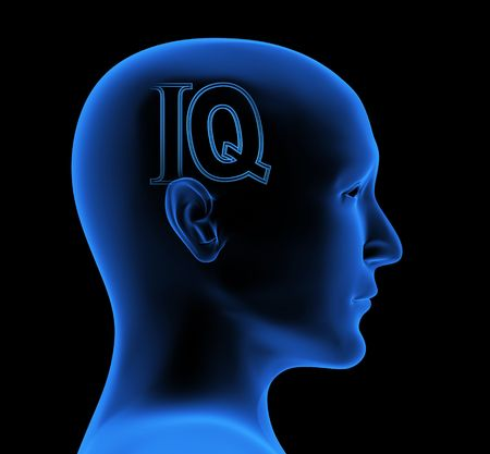 brain and thinking: Conceptual image - an index of intelligence Stock Photo