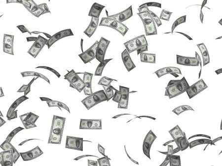 dinero volando: S�mbolo de la riqueza y el �xito - la lluvia de d�lares