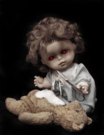 Dark series - vintage evil killer doll