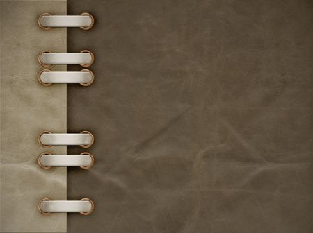 patched: Leather grunge background of brown color