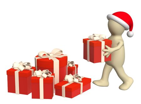 stacking: Puppet, stacking christmas gifts