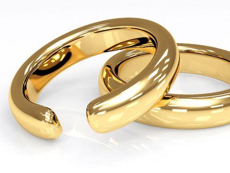 broken unity: Symbol of divorce - broken wedding ring