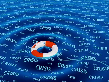 situation: Conceptual image - help in a crisis situation