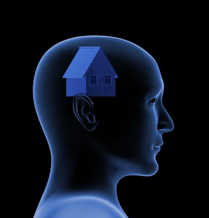Conceptual image - dream of own house photo