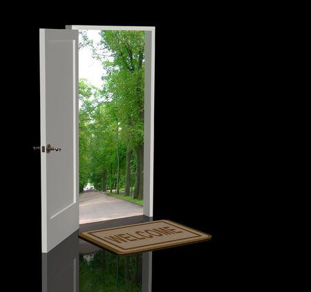 way of life: Door open in the real world
