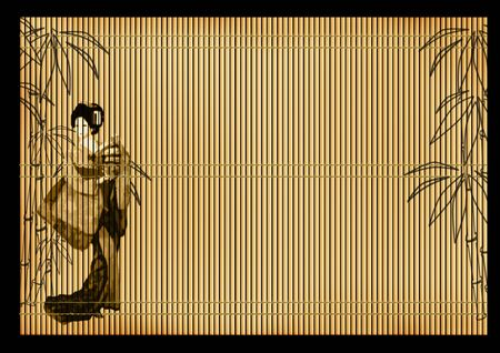 bamboo mat: Background - an ancient volumetric Japanese reed mat