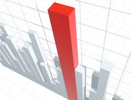 time sharing: 3d diagram, showing positive results Stock Photo