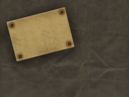 Leather grunge background of brown color photo