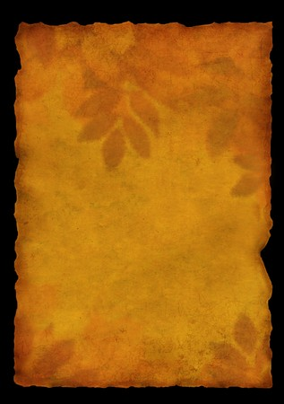 fragmentary: Autumn background - old, fragmentary parchment