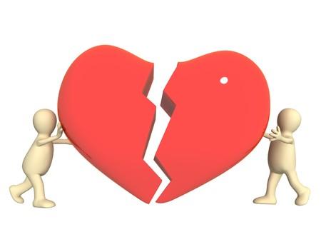 attempt: Conceptual image - attempt to rescue love Stock Photo