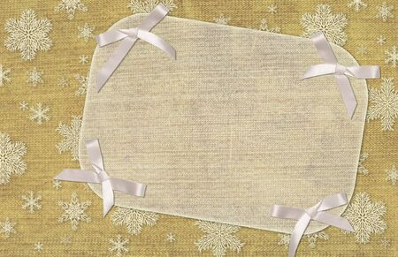 Christmas grunge background with jeans texture photo