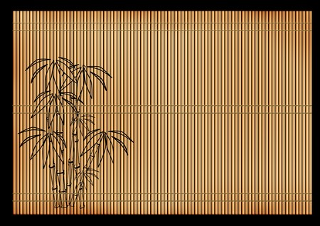 exoticism: Background - an ancient volumetric Japanese reed mat