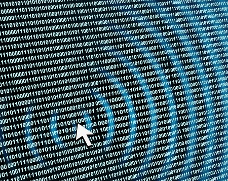 Internet concept - binary code Stock Photo - 4043323