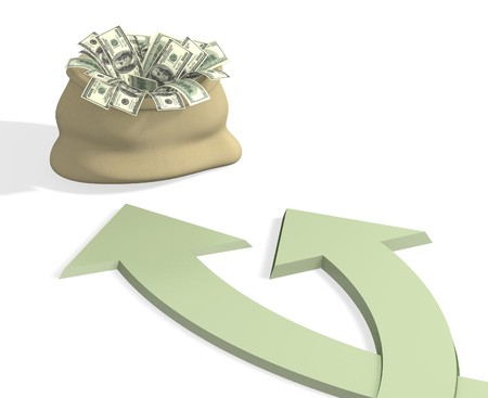 channelize: Conceptual image - two roads to wealth