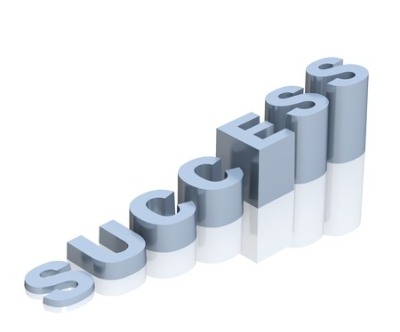 stair: Word succes als een ladder. Object via Wit