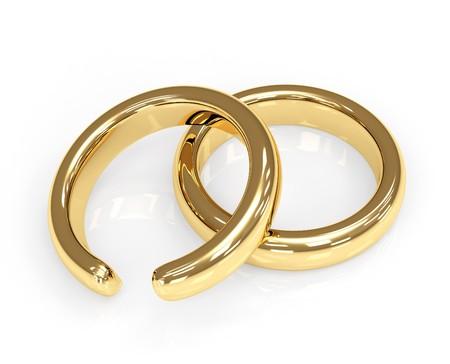 Symbol of divorce - broken wedding ring Stock Photo - 4063451