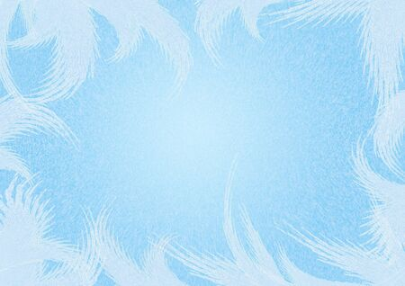 Christmas frosty background of blue color Stock Photo - 4063463