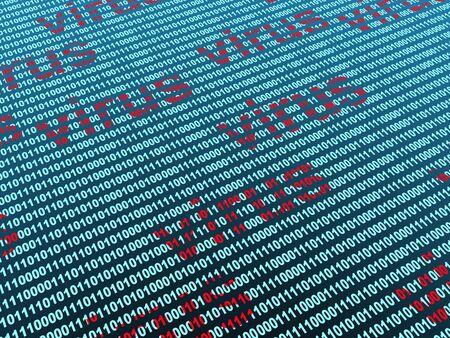 Conceptual image - virus in a binary code Stock Photo - 4089106