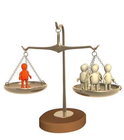 unequal: Conceptual image - success of professional work Stock Photo