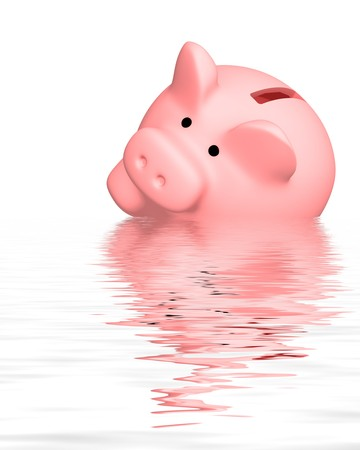 bankroll: Conceptual image - financial crisis