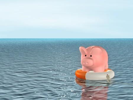 Conceptual image - help at financial crisis photo