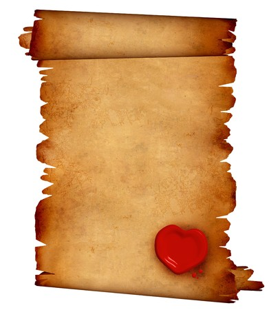 Background - a piece of old, fragmentary parchment photo