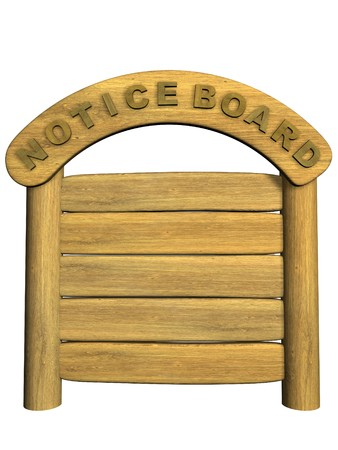 channelize: Wooden signboard. Object over white