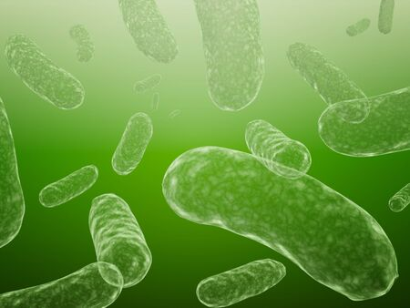 3d bacteriums of green color Stock Photo - 4295901