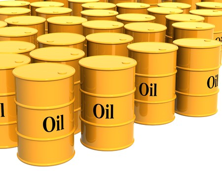 Four tanks of yellow color. Objects over white Stock Photo - 4295883