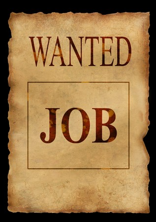 Wanted job. Grunge background photo