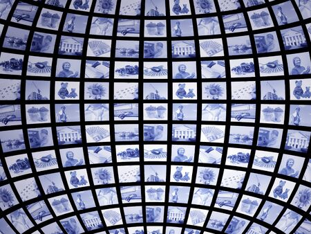 Background - 3d screen of blue color Stock Photo - 4295920