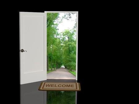 Door open in the real world photo