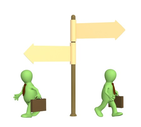 Concept - different direction in business photo