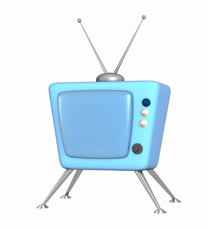 3d stylized model of a retro of the television Stock Photo - 4378376