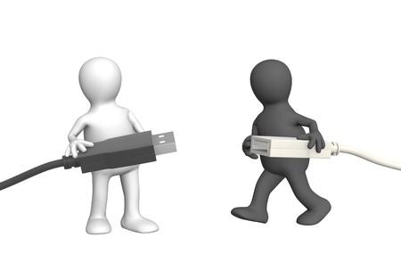 Conceptual 3d image - communication adjustment photo