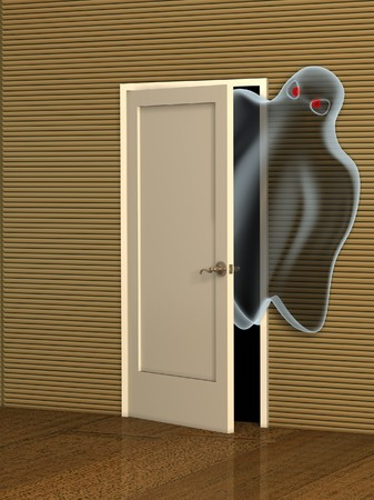 Dark series - ghost opening a door photo