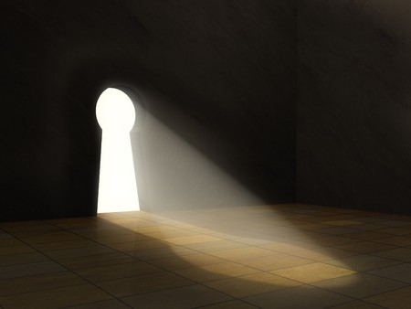 Conceptuele afbeelding - weg naar vrijheid