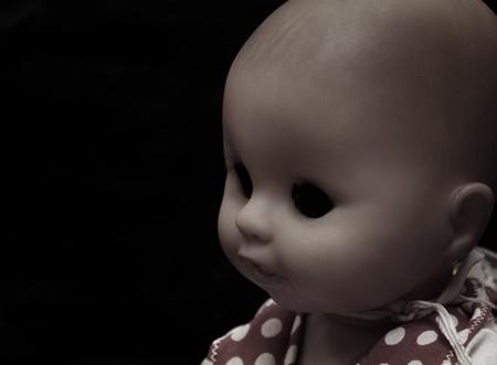 creepy monster: Dark serie - vintage male spooky doll Archivio Fotografico