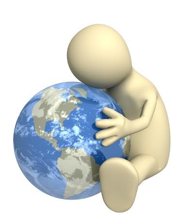 harmless: Conceptual image - protection of an environment Stock Photo