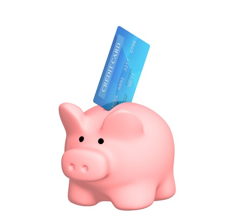 EASE: Piggy bank and credit cards