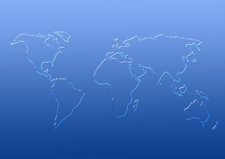 Map of  world from transparent drops of water photo